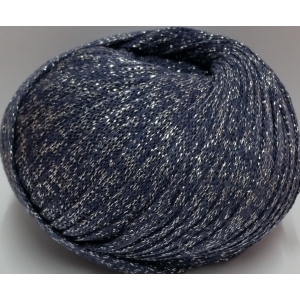 t-shirt yarn 150 grs. of Blue color con lurex of silver color